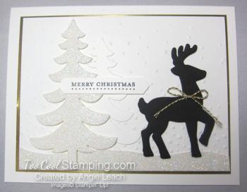 Dazzling reindeer silhouette - wide