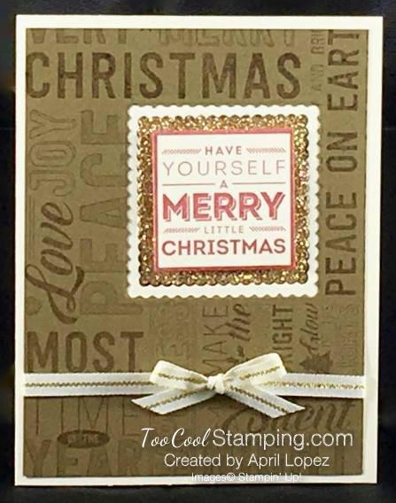 Merry Medley Window Card - April Lopez