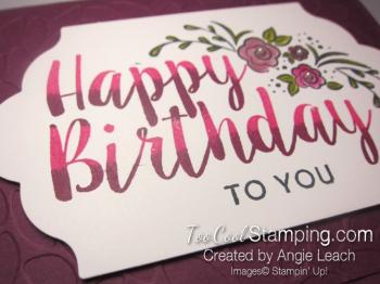 Big on Birthday Two-Tone - Razzleberry 4