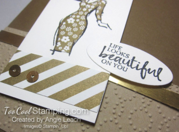 Beautiful You Metallic Piecing - gold 4
