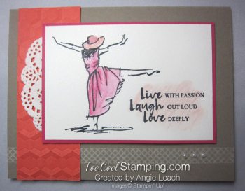 Beautiful You Watercolor Dance - coral