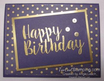 Big on Birthdays Fabulous Foil - gold eggplant