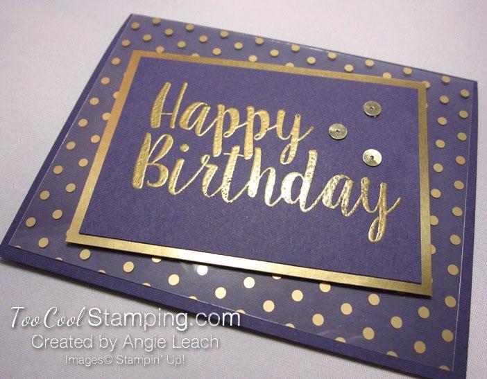 Big on Birthdays Fabulous Foil - gold eggplant 2