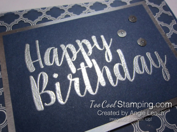 Big on Birthdays Fabulous Foil - silver navy 3