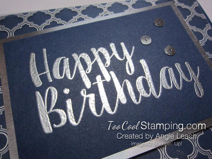 Big on Birthdays Fabulous Foil - silver navy 3
