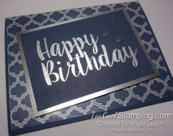 Big on Birthdays Fabulous Foil - silver navy 2
