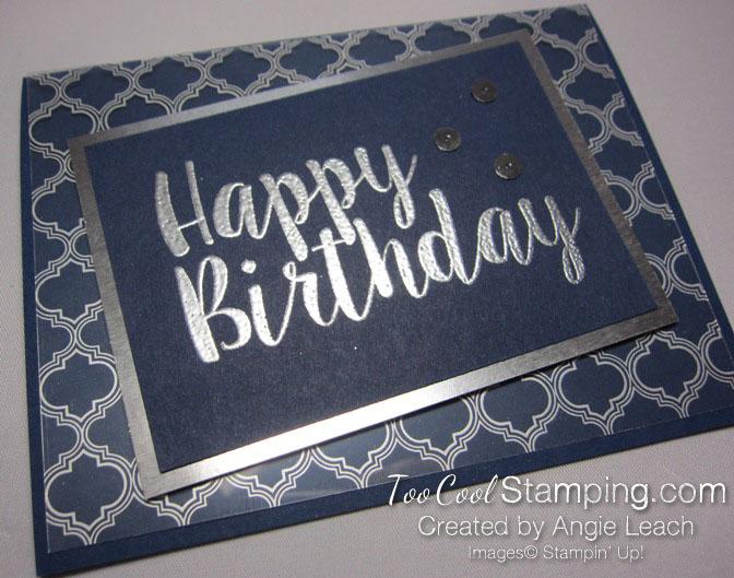 Big on Birthdays Fabulous Foil - silver navy 2