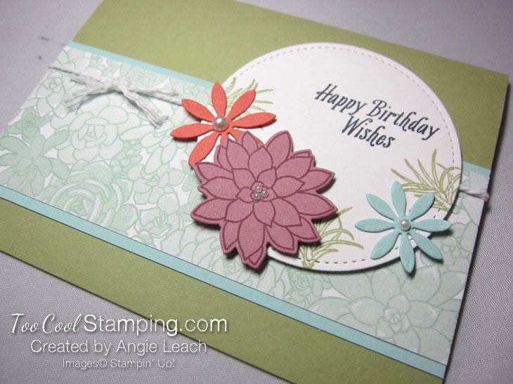 Succulent birthday - mint dsp 2