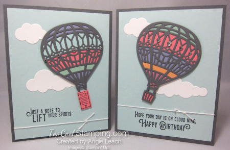 Multicolor hot air balloon - two cool
