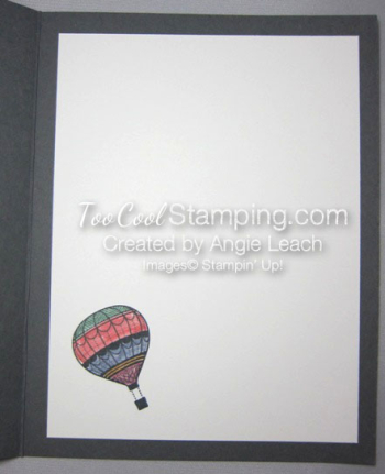 Paper pieced hot air balloon - inside
