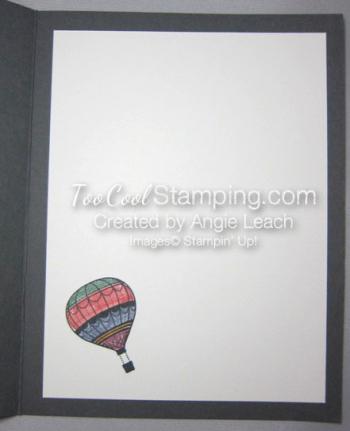 Paper pieced hot air balloon - inside