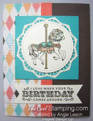 Carousel birthday diamonds - espresso