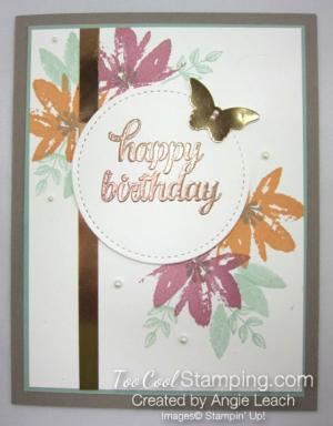 Avant garden copper birthday - sugarplum