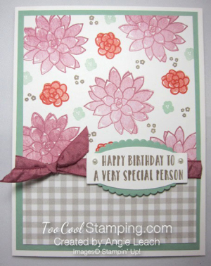 Succulent Gingham Birthday - sugarplum floral