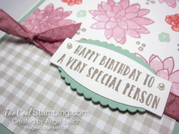 Succulent Gingham Birthday - sugarplum floral 4