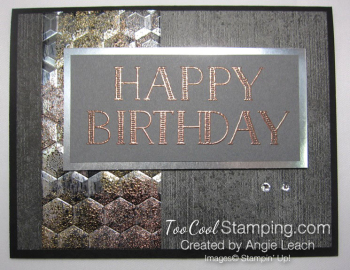 Big On Birthdays Tarnished Foil - copper