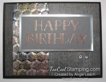 Big On Birthdays Tarnished Foil - copper