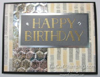 Big On Birthdays Tarnished Foil - gold