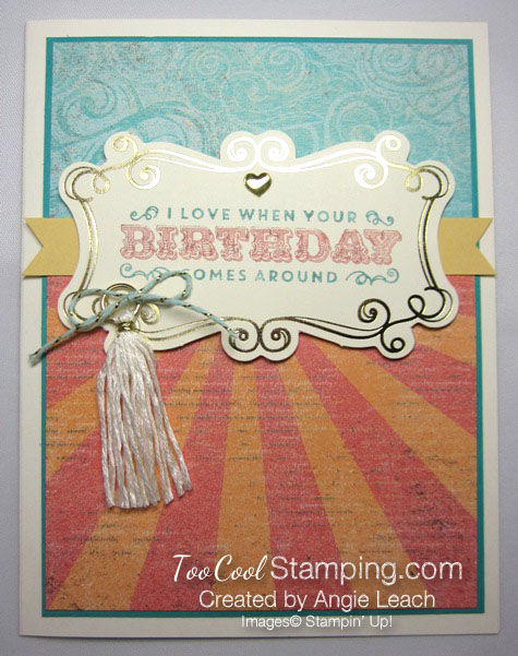 Cupcakes & carousels birthday - tassel