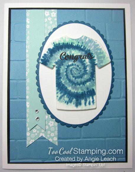 Tie-Dyed Custom Tee Card - congrats