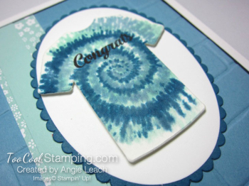 Tie-Dyed Custom Tee Card - congrats 2