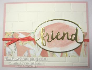 Powder pink - friend brick wall
