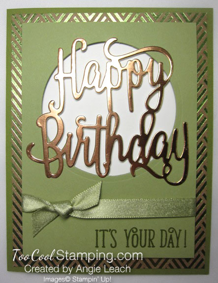 Happy birthday gorgeous copper foil - pear
