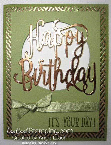 Happy birthday gorgeous copper foil - pear