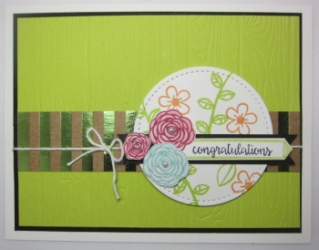 Happy birthday gorgeous planks floral - congratulations