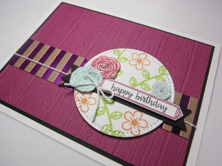 Happy birthday gorgeous planks floral - happy birthday 2