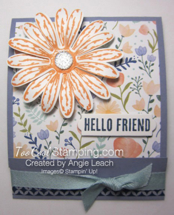 Delightful daisy post it note holder - wisteria