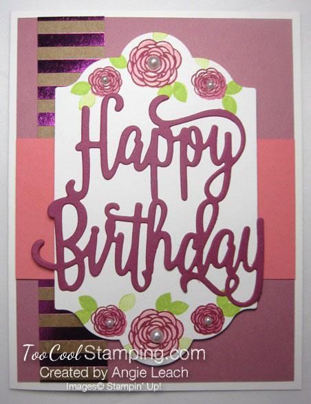 Happy birthday gorgeous floral - sugarplum