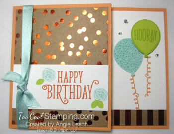 Happy birthday gorgeous gc holder - peach