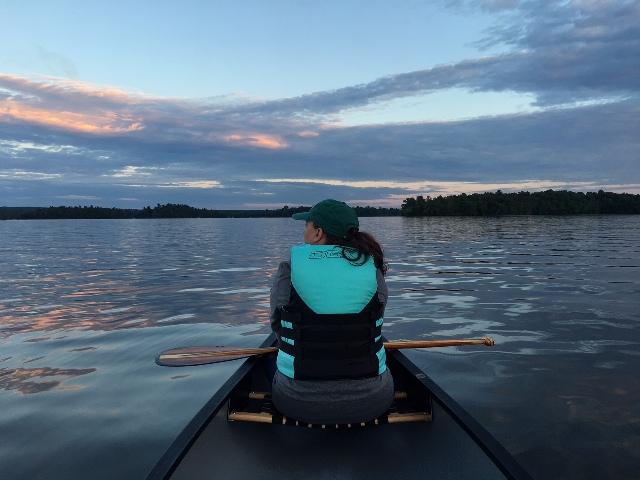 Angie canoe wi sky small