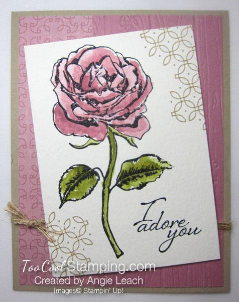 Graceful Garden watercolor - sweet sugarplum