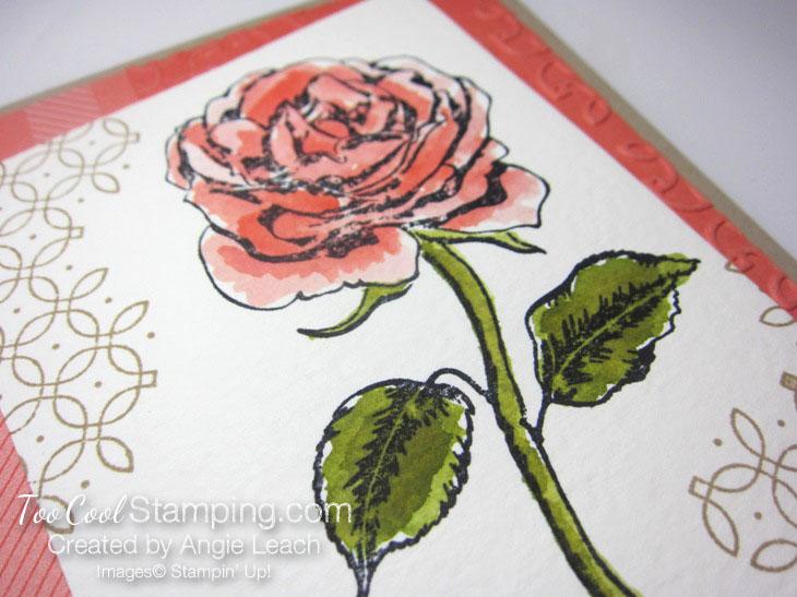 Graceful Garden watercolor - calypso coral 2