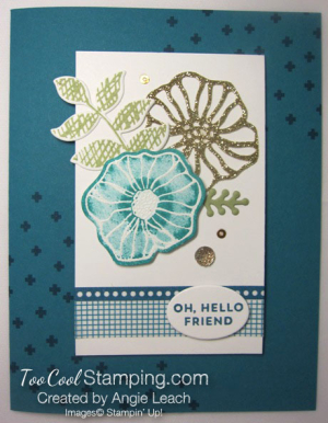 Oh So Eclectic emboss resist collage - indigo