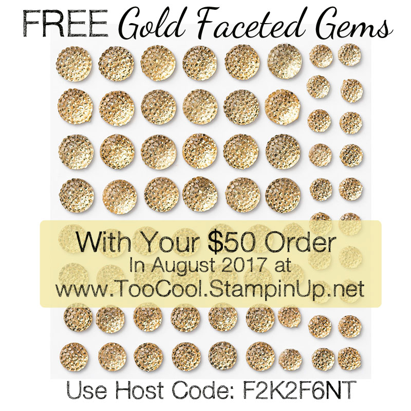 Host Code - August 2017 Gold Faceted Gems