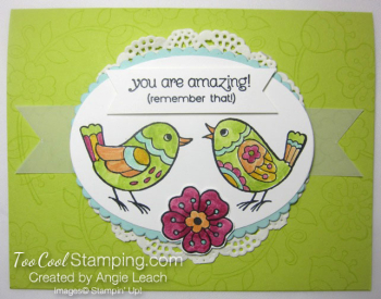 Feathery Friends - lime