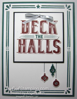 Deck The Halls Ornaments Trio - tranquil tide