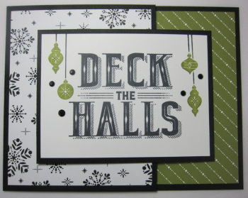 Carols of Christmas Deck The Halls Joy - snowflake stripes