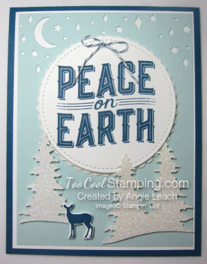 Carols of Christmas Peace on Earth Dazzling - indigo 1
