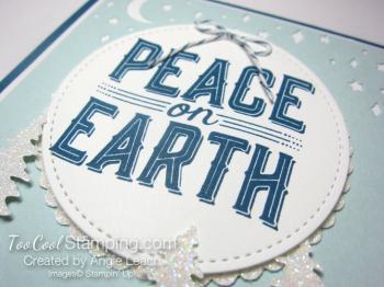 Carols of Christmas Peace on Earth Dazzling - indigo 3