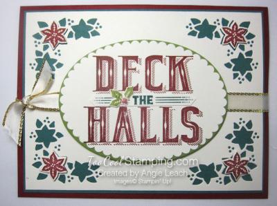 Carols of Christmas Poinsettias - deck holly