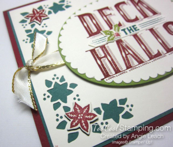 Carols of Christmas Poinsettias - deck holly 2