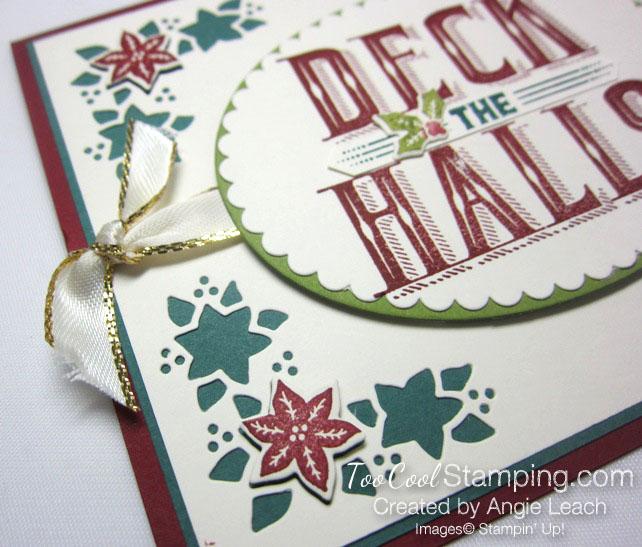 Carols of Christmas Poinsettias - deck holly 2
