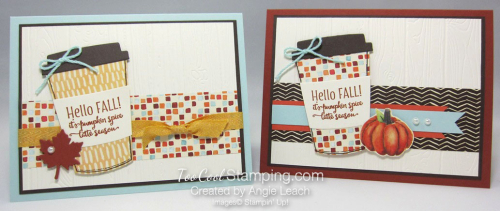 Merry Cafe Hello Fall Card - two cool