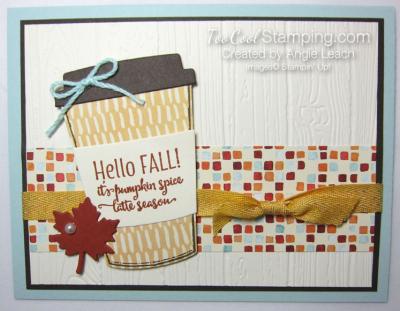 Merry Cafe Hello Fall Card - sky