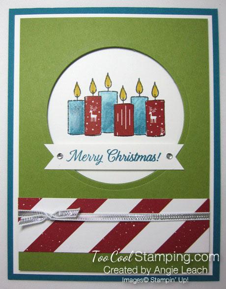 Paper pieced candles - indigo & olive