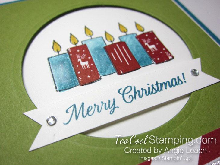 Paper pieced candles - indigo & olive 3